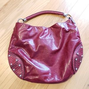 The Limited Red Faux Leather Oversize Shoulder Bag